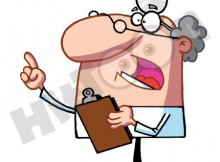 34425-clipart-illustration-of-a-bossy-male-senior-doctor-or-veterinarian-wearing-a-headlamp-holding-a-clipboard-and-hollering
